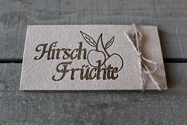 Hirsch Früchte