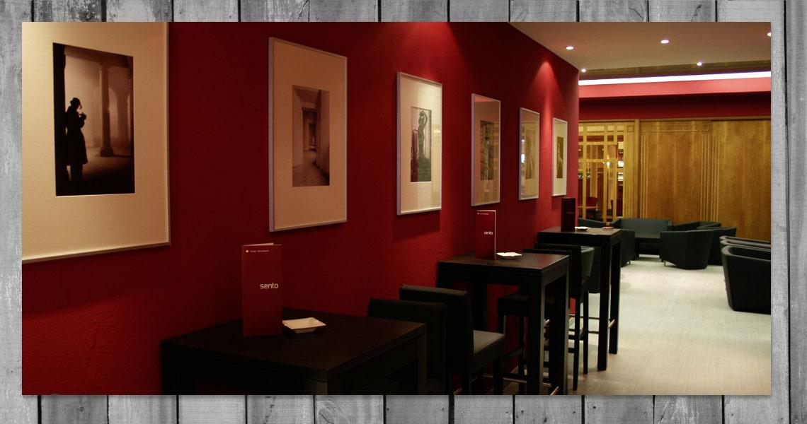 Sento restaurant caf lounge hummel grafikdesign for Raumgestaltung cafe