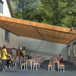 Visualisierung: Überdachung Grillhütte