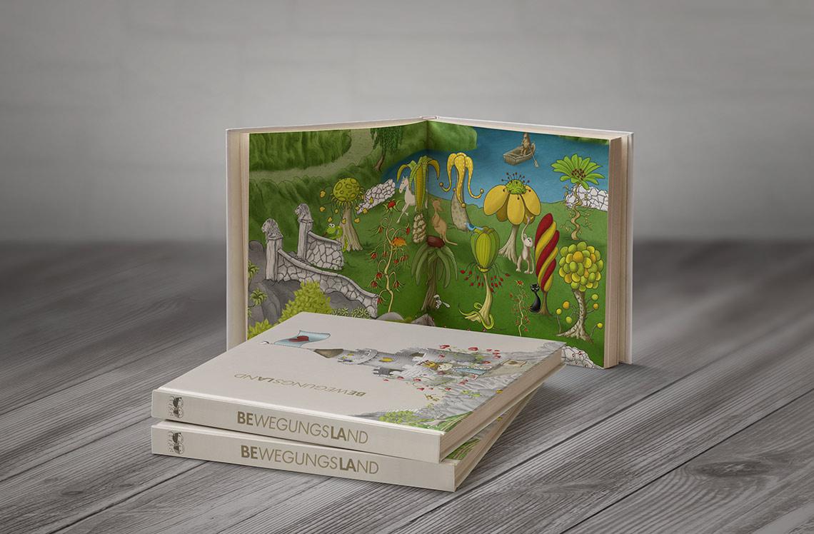 Illustrationen und Buch für Spielanleitung