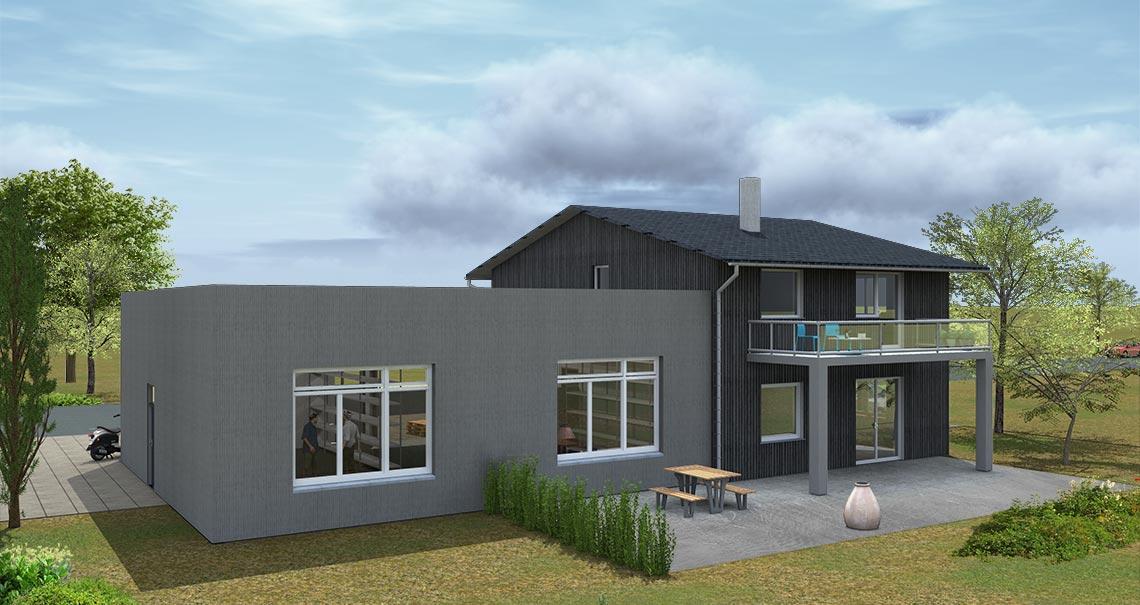 visualisierung b ro mit lagerhalle hummel grafikdesign und webdesign pforzheim. Black Bedroom Furniture Sets. Home Design Ideas