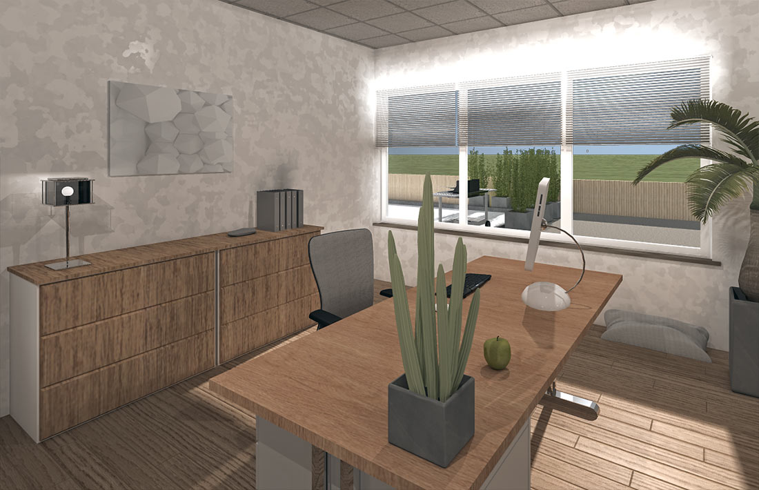 3D-Visualisierung Büro