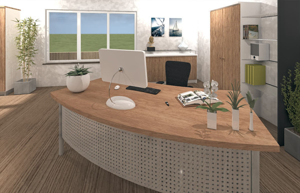 Büro 3D-Visualisierung