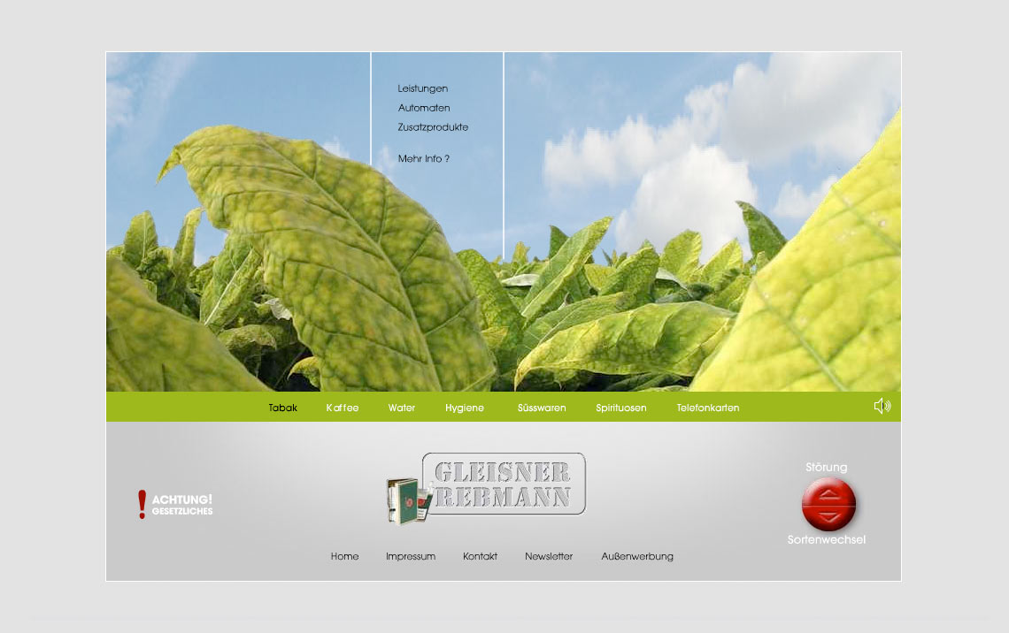 Gleisner Webseite Tabak