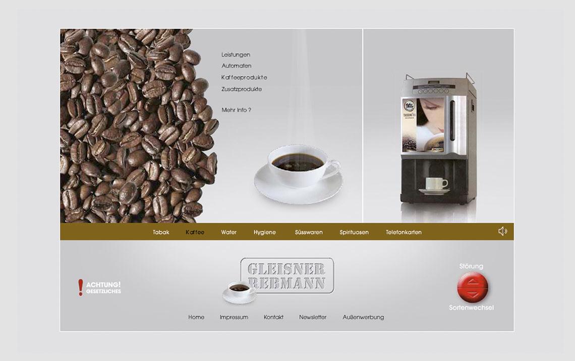 Gleisner Webseite Kaffee