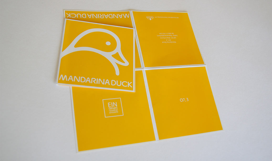 mandarina duck einladungskarte hummel grafikdesign und webdesign pforzheim. Black Bedroom Furniture Sets. Home Design Ideas