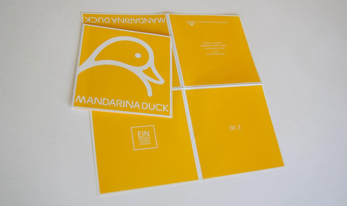 Mandarina Duck Einladungskarte